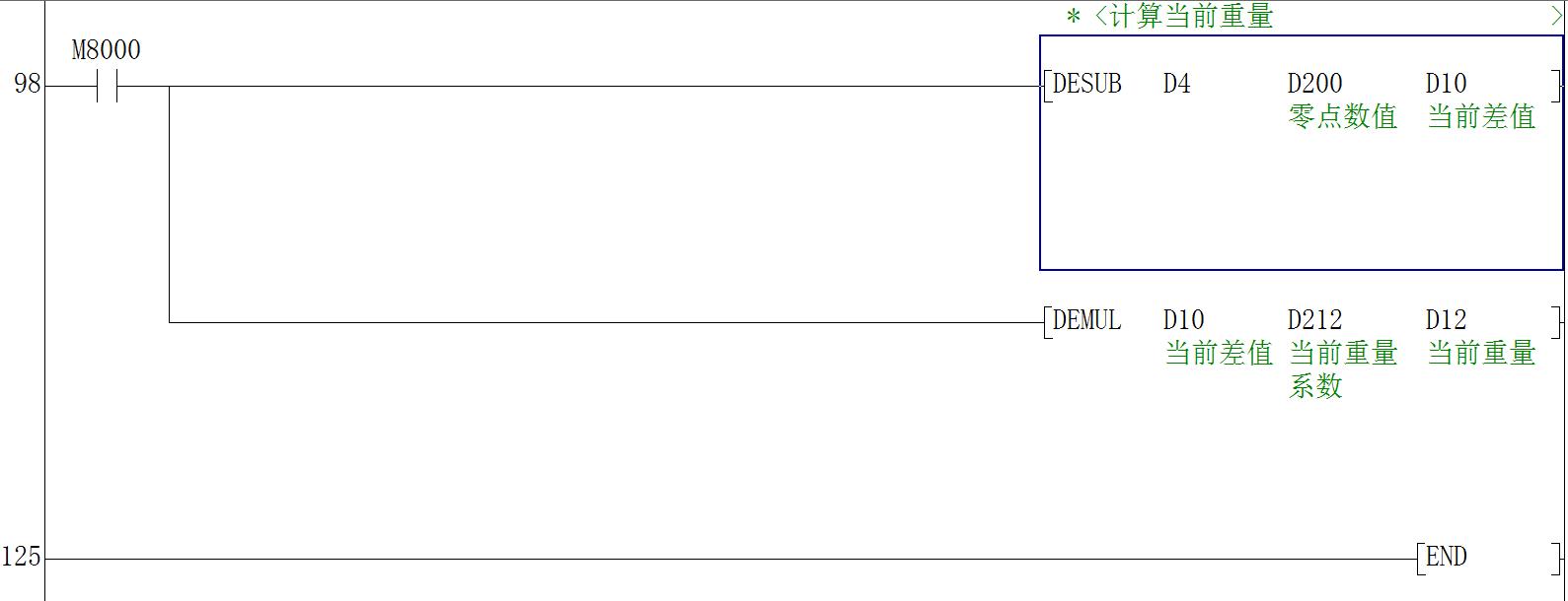 顾美MX2N PLC 称重功效利用案例